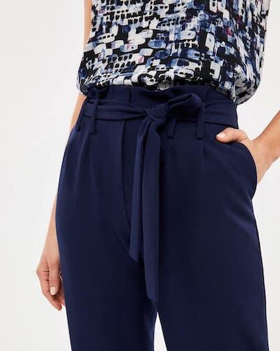 pantalons bleus Lise Hébert